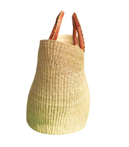 White Hand Woven Ladies Bag