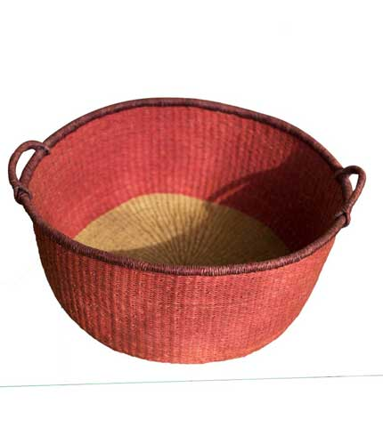 Hand Woven Basket - Red