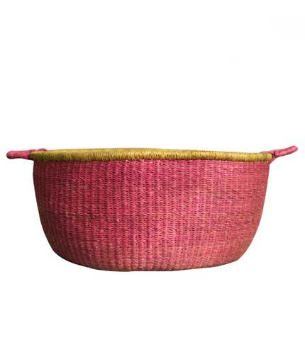 Hand Woven Basket - Pink