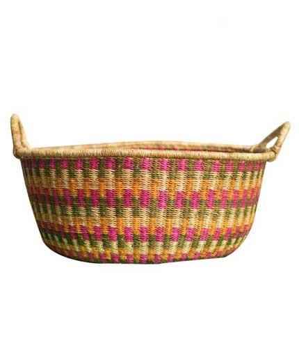 Hand Woven Basket - Multicoloured Design