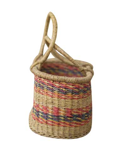 Brown Hand-Woven Basket