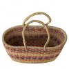 Brown Hand-Woven Basket