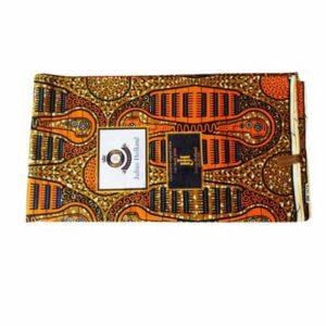 Brown African Print Cloth