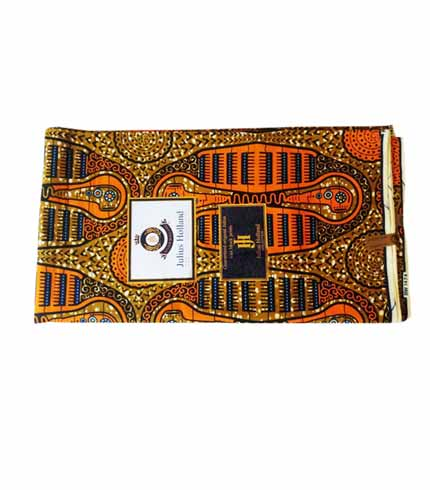 Brown African Print Cloth