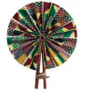 African Print Hand Fan - Multicoloured