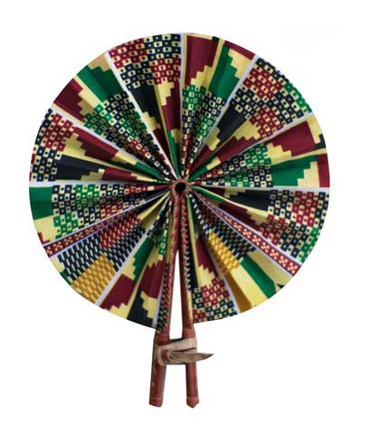 African Print Hand Fan - Multicoloured