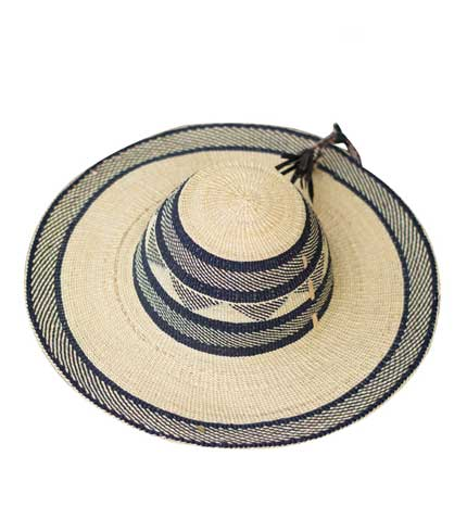 Straw Hat - Grey Strip