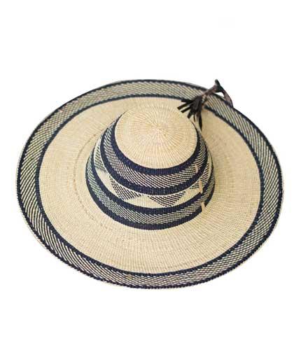 Straw Hat - Grey Strip