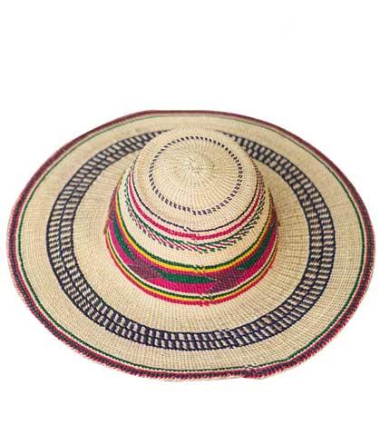 Straw Hat - Multicoloured Strip