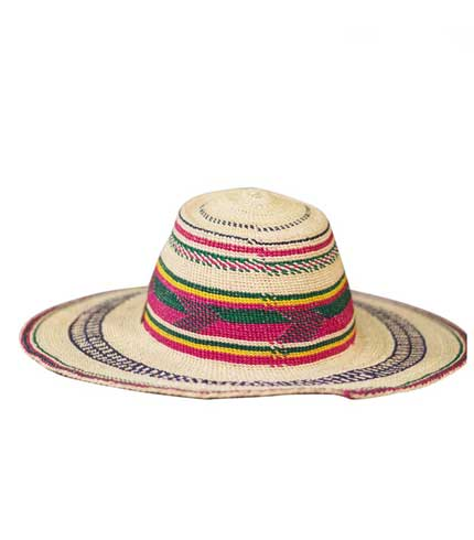Straw Hat - Multicoloured Strip