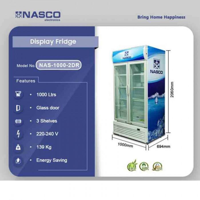 high quality NASCO 1000LTR DISPLAY FRIDGE