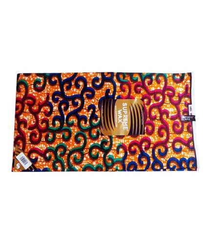 Supreme Wax Orange African Print Cloth