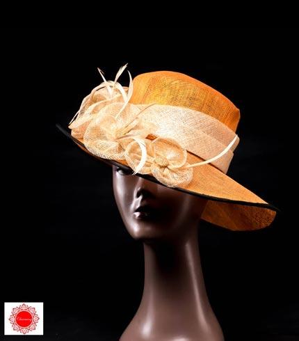 Orange Ladies Hat
