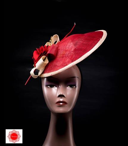 Red Fascinator