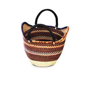 Hand-Woven Shopping Basket - Brown