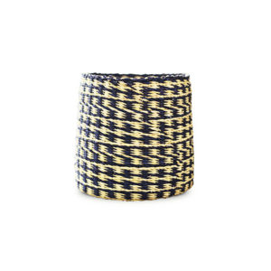 Hand-Woven Basket - Swamp Green and Natural Walnut