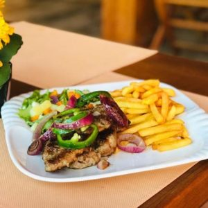 fried yam with pork