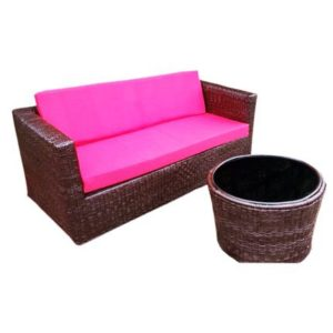 woven furniture set with rattan