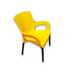 Mental leg plastic chair