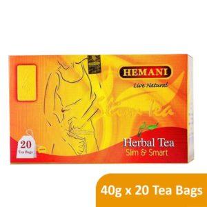 Hemani Live Natural Herbal Tea - Slim & Smart - 40g x 20 Tea Bags