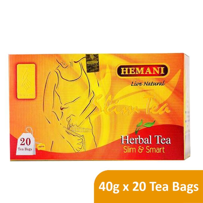 Hemani Live Natural Herbal Tea - Slim & Smart - 40g x 20 Tea Bags