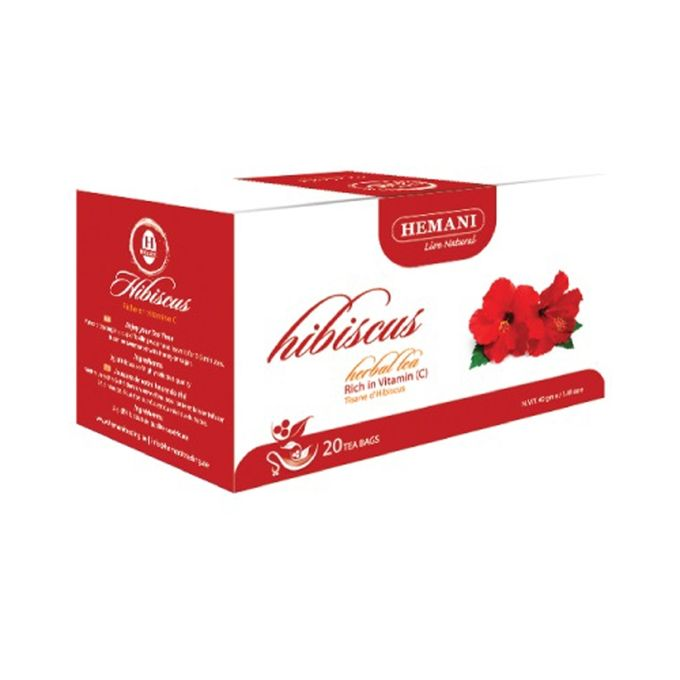 Hemani Hibiscus Herbal Tea - 40g x 20 Tea Bags