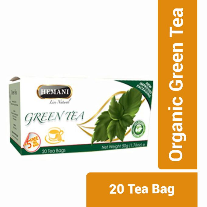 Hemani Organic Green Tea - 20 Tea Bag
