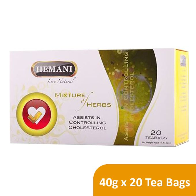 Hemani Live Natural Mixture of Herbs Tea - Cholesterol - 40g x 20 Tea Bags