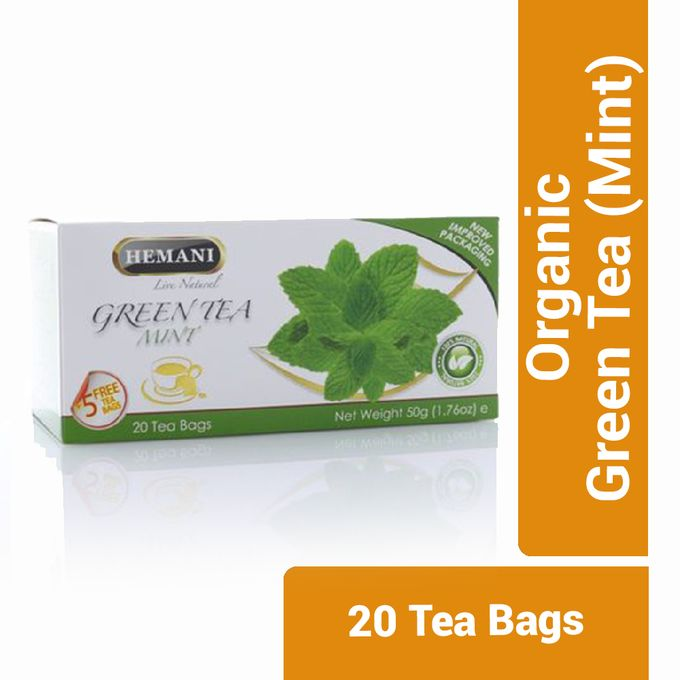 Hemani Organic Green Tea (Mint) - 20 Tea Bags