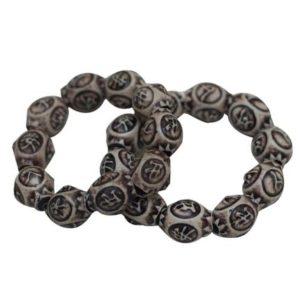 African Beaded Bracelet - Grey