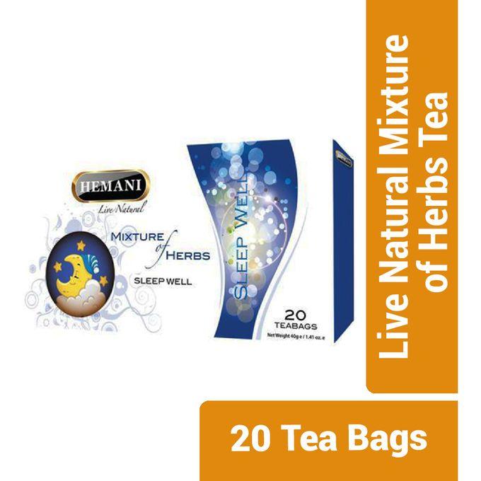 Hemani Live Natural Mixture of Herbs Tea - Sleep Well - 20 Tea Bags