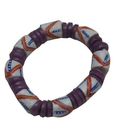 African Beaded Bracelet - White Design