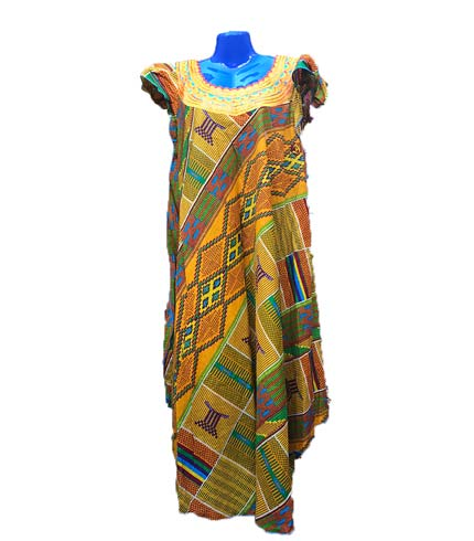 African Print Dress - Green Design
