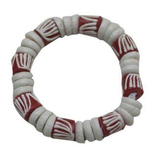 African Beaded Bracelet - White