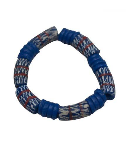 Blue African Beaded Bracelet
