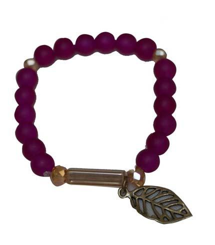 African Beaded Bracelet - Violet
