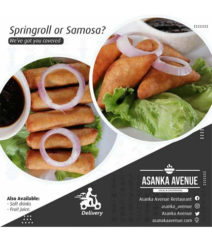 Springroll and Samosa