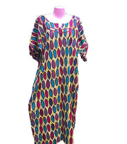 Multicoloured African Print Dress