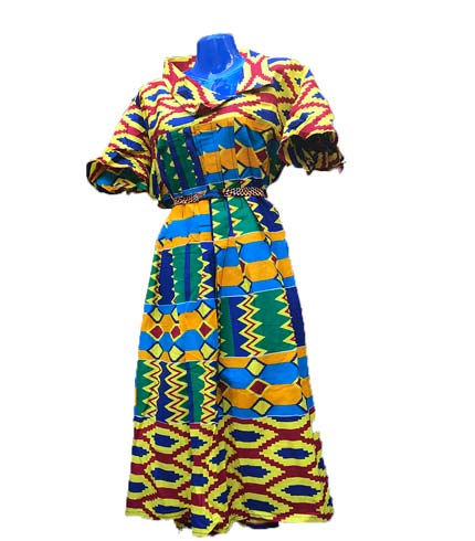 African Print Dress - Multicoloured Design