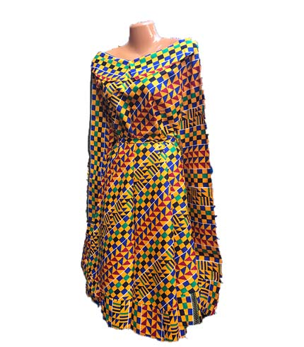 African Print Dress - Kente Design