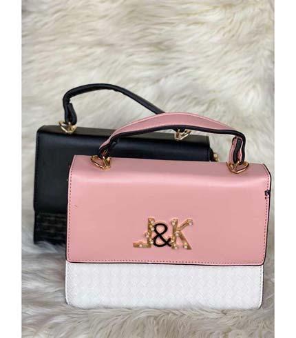 Pink & White Ladies Bag