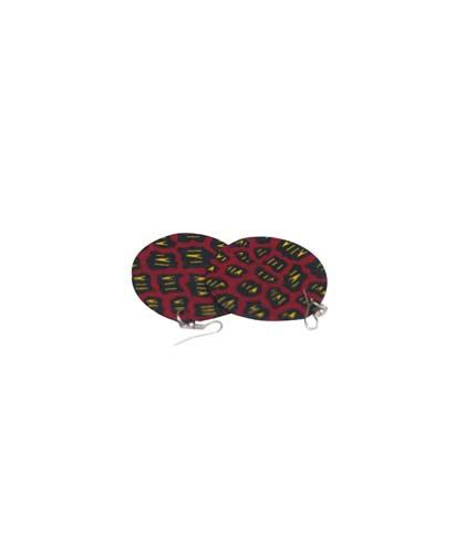 African Print Earrings - Violet