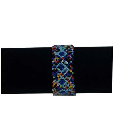 African Beaded Bracelet - Blue