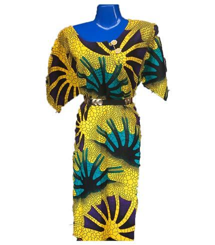 African Print Dress - Yellow Design