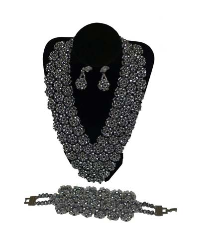 Silver Necklace with Earrings