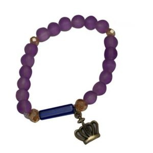 African Beaded Bracelet - Purple