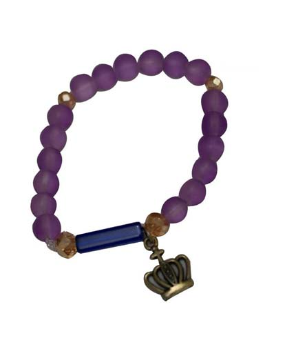 African Beaded Bracelet - Purple
