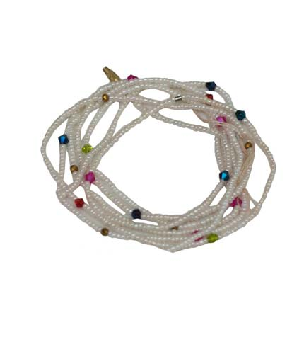 Beaded Necklace - White