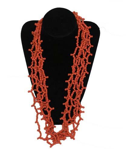 Beaded Necklace - Orange