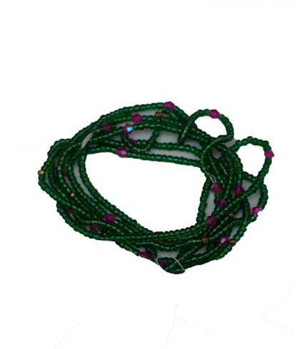 Beaded Necklace - Green